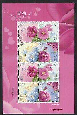 China 2020-10 玫瑰花  Mini S/S Rose Flower stamps