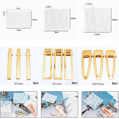 Personality Hairpin mould Hairpin DIY Girl Temperament Crystal Epoxy Gift