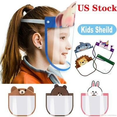 Kids Safety Full Face  Shield Protective Clear Film Dustproof Anti-Fog