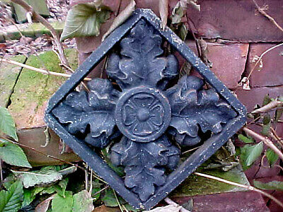 Antique Victorian Cast Iron Grid Detroit Michigan Central Depot Architecture