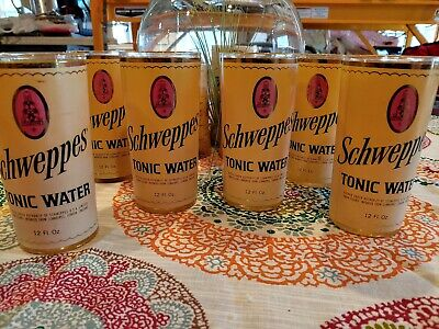 Set Of 6 Schweppes Tonic Water Glasses
