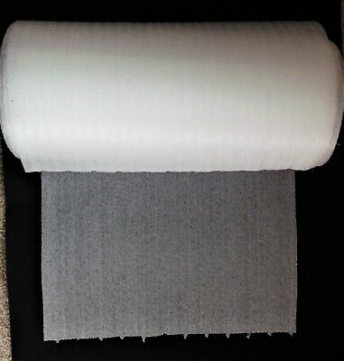 "12 Inch Wide x 50 Feet Long Roll of 1/32"" Perforated Ribbed Packing Foam - NEW!"