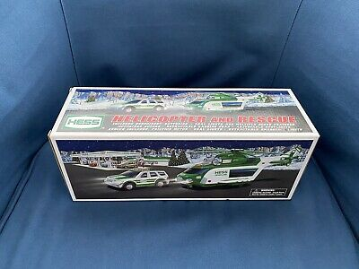 HESS 2012 Toy Truck Helicopter and Rescue - Mint In Box - Never Removed From Box