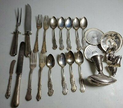 526.6g solid Sterling silver flatware silverware mixed lot (Marked & Tested)