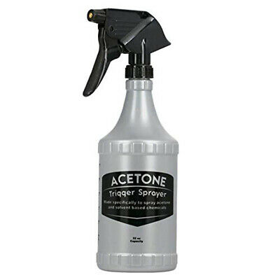 Delta 32oz/1000ml Acetone Resistant Trigger Sprayer and Bottle FG32ACETONE1-12