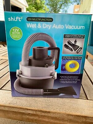 Shift 3 Auto Wet/Dry Vacuum 12 Multifunction, 12V Motor
