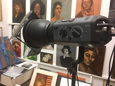 TWO BOWENS ESPRIT2 500 Studio Lighting Kits BOTH WORKING 2 stands & Accessories