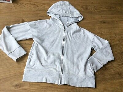 Girls 10 Hoody Top Grey Marl Zip Jacket Sports Tracksuit P.e. Next