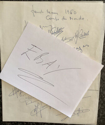 Rugby League Programme /Memorabilia Autographs Of The French Team World Cup 1960