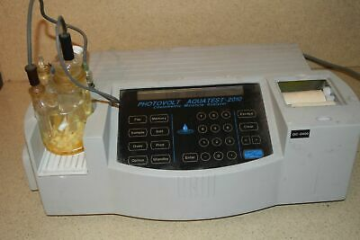 Photovolt Aquatest 2010 Couloetric Moisture Analyzer