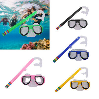 Swimming Diving Swim Scuba Anti-Fog Goggles Mask & Snorkel Set for Kids Boy Girl