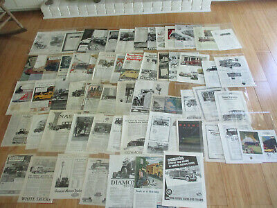 HUGE LOT OF 60+ RARE 1910s-1930s AUTOMOBILE & TRUCK ADS