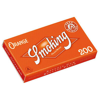 SMOKING Bloc 200 Orange Regular Size Rolling Papers booklet