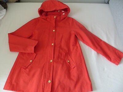 Girls H&M Orange Lightweight Swing Jacket Coat with Detachable Hood Age 10-12yrs