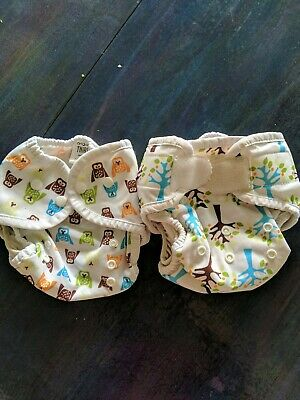 Thirsties Cloth Diaper - One Size AIO - Blackbird + Two Hoot duo wrap