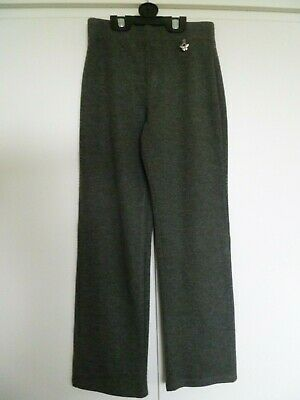 Girls George Charcoal Grey Pull Up Trousers age 7-8 years