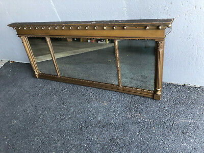 Antique Federal Gold Gilded Mantel Mantle Mirror
