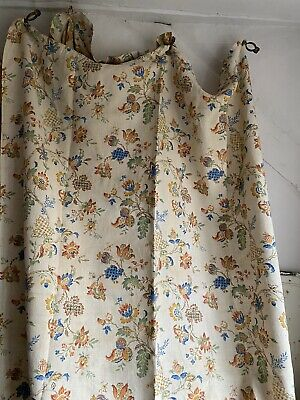Antique French Fabric Vintage Linen Curtain Panels Textile Home Furnishing / 1pc