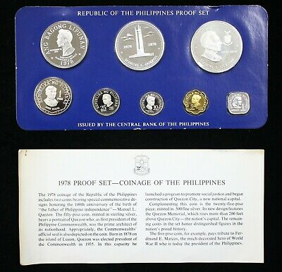 1978 Franklin Mint Philippines Piso Proof Set Sealed w/ COA LOW MINTAGE - 05804