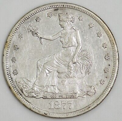1877-S Trade Silver Dollar $ XF Details No Reserve