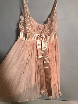 Victorias Secret Lingerie Top Sheer Pinky Peach SMALL