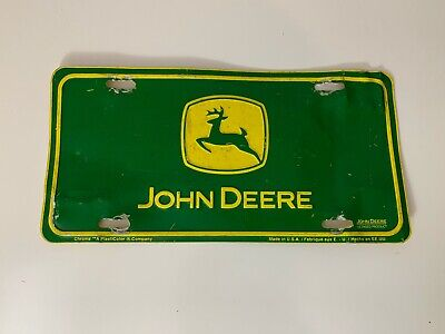 John Deere | Front License Plate | Used | Great Patina | Novelty | Man Cave