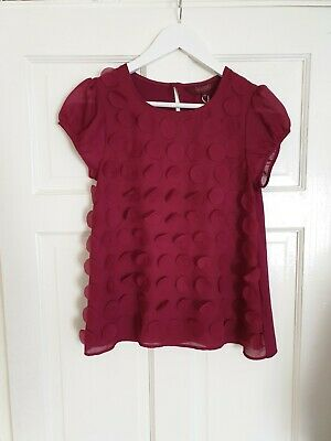 """Blouse""""Baker by Ted Baker""""Dark Purple Color Size:12 Years,Height:59 ¾ UK,152 cm"""