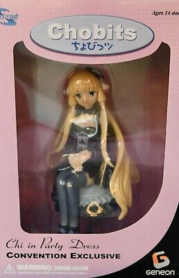 Chobits Chi Party Dress Figure// Dark Chi// MIB// Factory Sealed// 360 of 1000