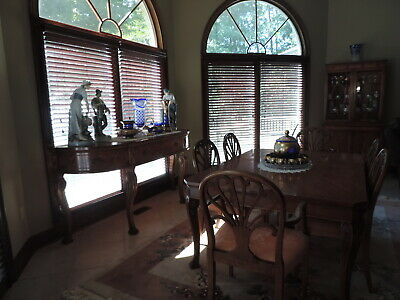 IRWIN Vintage 1940's Dinning Room Suite. China Cabinet, Buffet,Table & Chairs