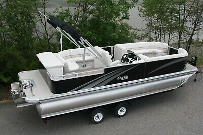 Stay safe-New triple tube pontoon boat with 175 and trailer