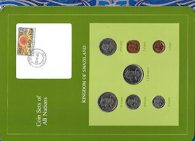 Coin Sets of All Nations Swaziland 1975-1982 UNC 50,1 cent 1975 1 Lilangeni 1981