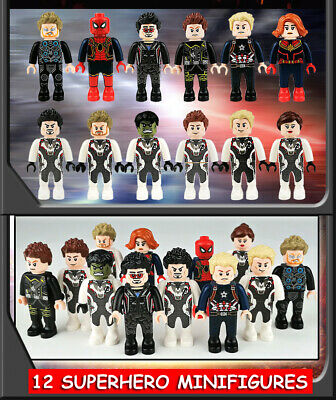 Super Heros Minifigures Marvel Avengers Endgame Batman Superman Figures 8-12 set