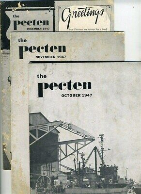 The Pecten Shell Oil Company Employee Magazine Oct Nov Dec  1947 Issues