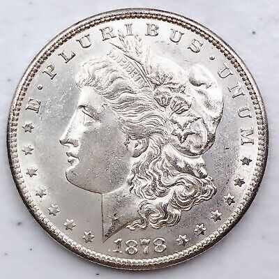 1878-S UNC GEM MS+++ MORGAN SILVER DOLLAR 90% SILVER $1 COIN US #i30