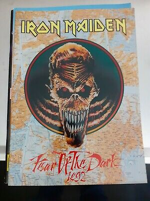 Iron maiden fear of the dark 1992 official tour book!!!!monsters of rock