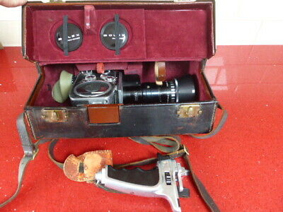 Paillard Bolex P2 Zoom Reflex Movie Camera with Som Berthiot Pan-Cinor Lens+case