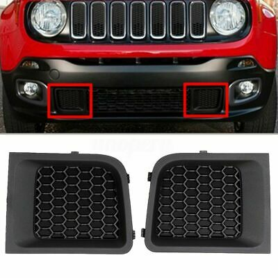For 2015-2017 Jeep Renegade LH+RH Front Lower Bumper Grill Grille Bezel Cover DE