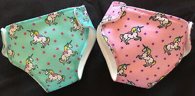 2 New Dolls Unicorn Nappies Fit Baby Born Annabell Luvabella Dolls Clothes 16-18