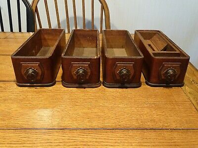 Antique Domestic Treadle Sewing Machine Drawers, Set of 4