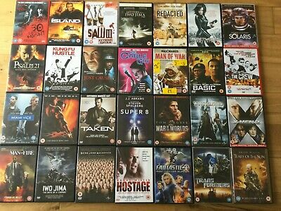 Wholesale Bundle Joblot of DVDs Action, Thriller Bloke Selection 28 Units