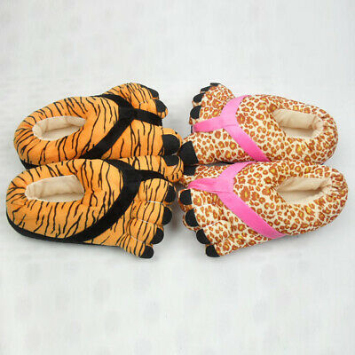 Winter Women Girls Warm Fleece+EVA Comfy Cute Foot Slip On Flat Shoes Slippers