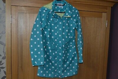 Girls 11/12 yrs Adventurers by Peter Storm Green Spotted Lightweight Jacket  #CL
