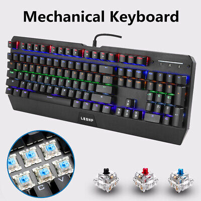 NEW Backlit Computer Keyboard with LED Light-Up Keys for Gaming Professional