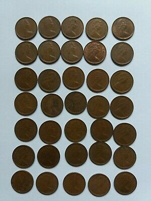 35 - Half Pence ½p Old Penny Coins UK GB Decimal Copper Elizabeth II 1976 -1982