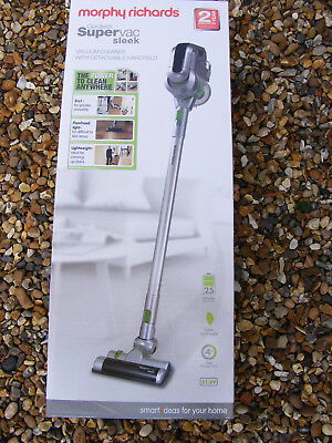 New Morphy Richards Model 731006 2 in 1 Supervac Sleek Cordless Vacuum Cleaner