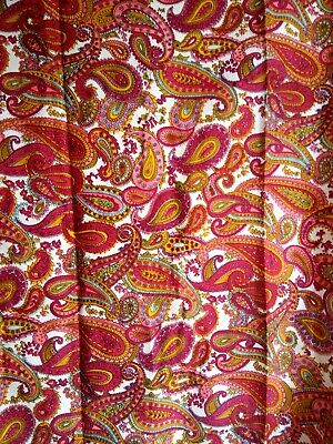 Genuine Vintage Retro Curtains (Pair) Bright Paisley Pattern Excellent Condition