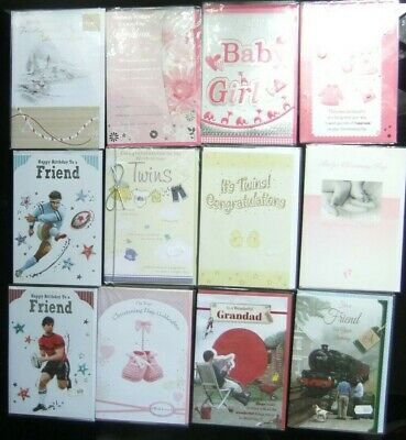 26 Greeting Cards Quality Occasions Birthdays Etc Joblot Wholesale