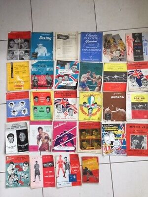 Boxing Programmes championships selection 1940s and 1950s