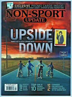 2018 Non Sport Update Price Guide Stranger Things Beatles Game of Thrones Promos