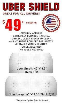 Uber Shield Driver Sneeze Guard Acrylic Large Size